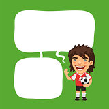 Soccer Player Speech Bubble
