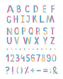 Decorative colourful font