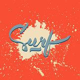 Surf hand-lettering logo