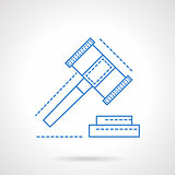 Making decisions abstract blue line vector icon