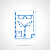 Headhunter blue flat line abstract vector icon