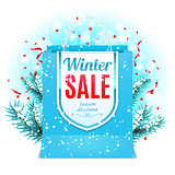 Winter Sale Shopping Bag