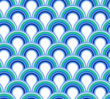Blue wave abstract seamless background