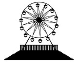 silhouette Ferris wheels