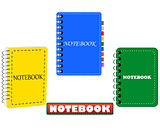 the three in different colors notepad