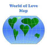 world of love map