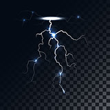 Vector lightning light effect