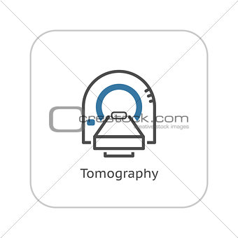 Tomography Icon. Flat Design.