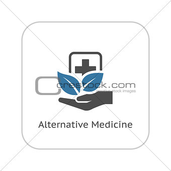 Alternative Medicine Icon. Flat Design.