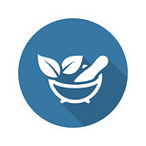 Phytotherapy Icon. Flat Design.