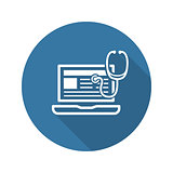 Medical Blog Icon. Flat Design.