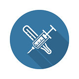 Vaccination and Medical Services Icon.
