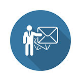 Email Marketing Icon. Flat Design.
