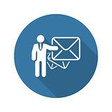 Email Marketing Icon. Flat Design.
