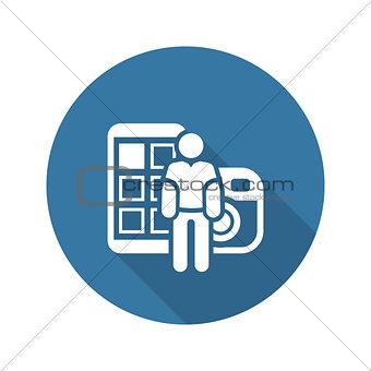 Blogger Icon. Flat Design.