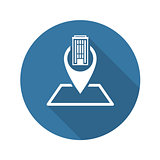 Location Icon. Flat Design.