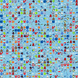Sea funny cartoonish pattern.