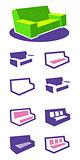 Set of icons sofa