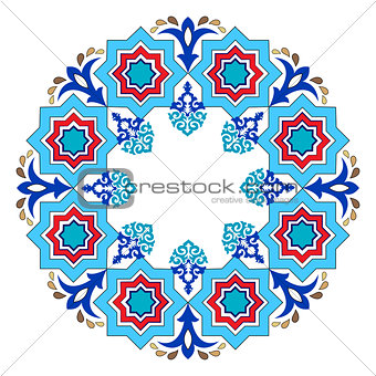 Antique ottoman turkish pattern vector design eight