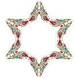 Antique ottoman turkish pattern vector design fifteen