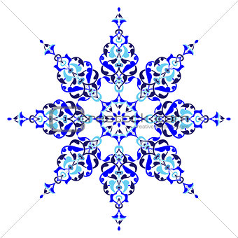 Antique ottoman turkish pattern vector design five