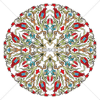 Antique ottoman turkish pattern vector design nine