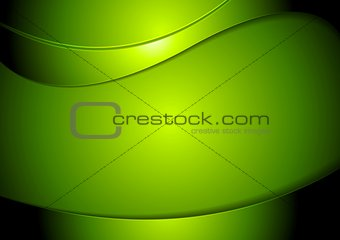 Abstract green wavy vector background