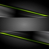 Tech dark glossy background with perforated metal texture