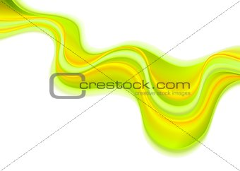 Green yellow wavy art background