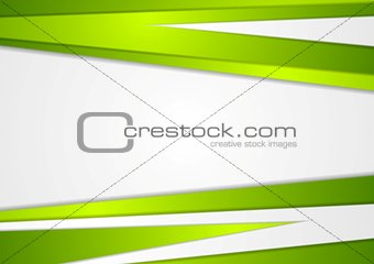 Abstract corporate green stripes vector background