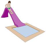 vector child on water slide