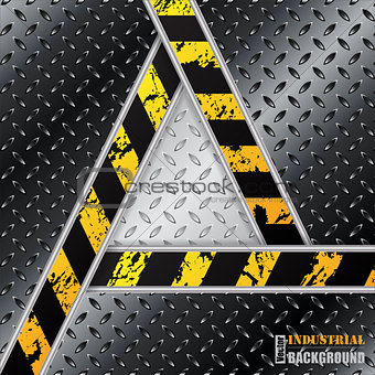 Abstract black metallic plate with triangle