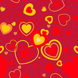 Heart shape seamless background