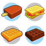 Dessert and fast food icon