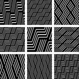 Seamless patterns set. Geometric textures.