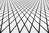 Latticed geometric texture. Perspective view.