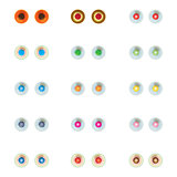 Set of colorful eye balls.