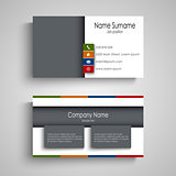 Business card with colored bookmarks template