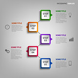 Info graphic with colorful design element indicators template