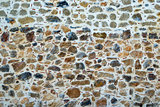 Close up of rough pebbles background texture