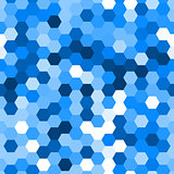 Blue seamless hexagonal vector pattern