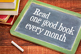 Read one good book every month