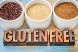 quinoa, amaranth and teff grains