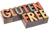 gluten free in vintage wood type