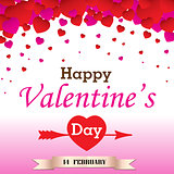 Happy Valantine's Day on white background.