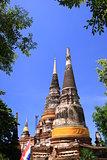 Ruin pagoda in Ayutthaya Thailand