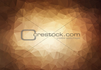 Abstract triangle  brown background