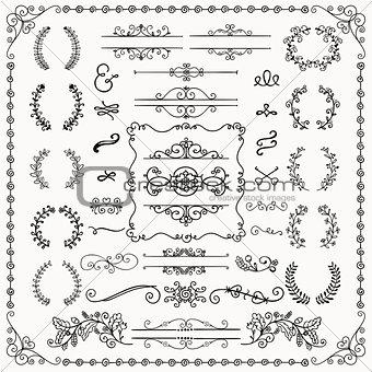 Black Hand Drawn Decorative Doodle Design Elements