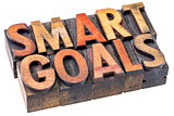 smart goals in vintage wood type