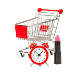 Shopping cart with lipstick